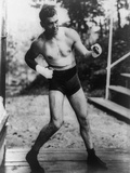 Jack Dempsey, World Heavyweight Champion, Training at Michigan City, Indiana, Ca. 1922 Photo