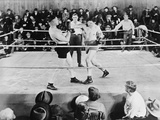 Jack Dempsey, World Heavyweight Champion. Boxing in the Ring, Ca. 1922-26 Photo