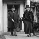 Chief Justice William Howard Taft and Helen Herron Taft at the Funeral of Justice Mahlon Pitney Photo