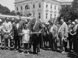 President Herbert Hoover Meets with Members of the Izaak Walton League, July 17, 1929 Photo