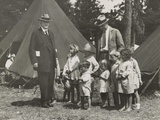 Herbert Hoover with Girls and Boys at a Tent Camp During the Great Mississippi River Flood in 1927 Photo