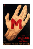 M, (AKA M - Eine Stadt Sucht Einen Morder), Poster, 1931 Giclée-tryk