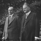 President Calvin Coolidge with 1928 Republican Presidential Nominee Herbert Hoover Photo