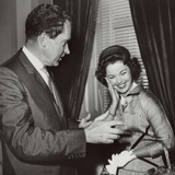 Former Child Actress Shirley Temple Black with Vice President Richard Nixon Photo