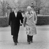 President Ronald Reagan and Donald Regan, White House Chief of Staff, Nov Photo