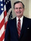 George H. W. Bush, Official White House Portrait. 1989 Photo