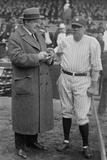 Playwright H.H. Van Loan Taking Notes as He Talks with Babe Ruth in 1924 Photo