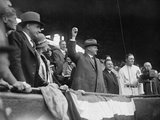 President Herbert Hoover Throwing Out the Ceremonial 'First Pitch' at Griffith Stadium in 1929 Photo