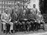 President Herbert Hoover (Seated, Center) with the Federal Farm Board, July 12, 1929 Photo