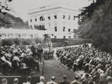 Herbert Hoover Speaking to Organizations at the White House Welfare Conference Photo