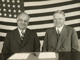 1928 Republican Presidential Running Mates, Herbert Hoover(Right) and Charles Curtis Photo