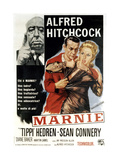 Marnie, Director Alfred Hitchcock, Sean Connery, Tippi Hedren, 1964 Giclee Print