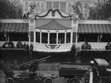 Presidential Reviewing Stand at the White House During Herbert Hoover's Inauguration Photo