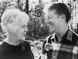 Jimmy Carter and His Mother, Ms. Lillian Photo