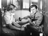 Young Man with a Horn, from Left, Doris Day, Kirk Douglas, 1950 Photo