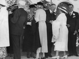 Former President Herbert Hoover and Lou Hoover Receiving Guests at San Diego Exposition, 1935 Photo