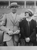 Jack Dempsey and Wife, Actress Estelle Taylor, at a Sports Event Photo