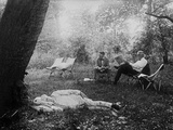 Thomas Edison Naps under a Tree, on July 19, 1921 Photo