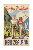 Carefree Holidays New Zealand Giclée-tryk