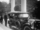 Former President Woodrow Wilson Calls at White House the Day after Warren Harding's Death, Aug 1923 Photo