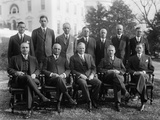 Herbert Hoover with His Cabinet and Vice President Charles Curtis Photo