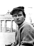 One, Two, Three, Horst Buchholz, on Location in Berlin, in Front of the Brandenburg Gate, 1961 Photo