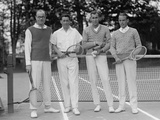 Watson Washburn, Bill Williams, Bill Tilden, and Alfred Chapin at Chevy Chase Club in 1925 Photo