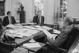 President Gerald Ford Meeting with David Mathews(Right) and Dick Cheney Photo