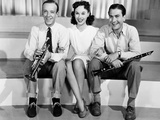 Second Chorus, from Left, Fred Astaire, Paulette Goddard, Artie Shaw, 1940 Photographie
