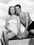 The Girl from Jones Beach, from Left, Virginia Mayo, Ronald Reagan, 1949 Photo