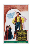 The Private Life of Don Juan, British Poster, Douglas Fairbanks (Center), 1934 Giclee Print