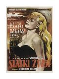 La Dolce Vita, (AKA Slatki Zivot), Yugoslavian Poster Art, Anita Ekberg, 1960 Giclee Print