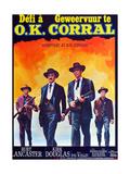 Gunfight at the O.K. Corral, (AKA Geweervuur Te O.K. Corral, Aka Defi a O.K. Corral), Belgian, 1957 Giclee Print