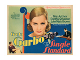 The Single Standard, Top: Greta Garbo, Bottom, from Left: Nils Asther, Johnny Mack Brown, 1929 Giclee Print
