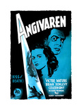 Kiss of Death (AKA Angivaren), Coleen Gray, Victor Mature, (Swedish Poster Art), 1947 Giclee Print