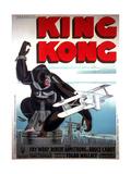 King Kong, French Poster Art, 1933 Giclée-trykk