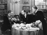 The Hound of the Baskervilles, from Left, Nigel Bruce, Basil Rathbone, Mary Gordon, 1939 Photo