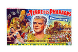 Land of the Pharaohs, (AKA La Terre Des Pharaons), Center: Jack Hawkins on Belgian Poster Art, 1955 Giclee Print