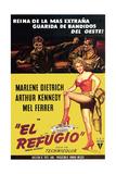 Rancho Notorious, from Left, Arthur Kennedy, Mel Ferrer, Marlene Dietrich, 1952 Giclee Print