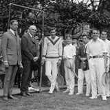 President Warren Harding Stands Next to Tennis Champion Bill Tilden, May 11, 1923 Photo