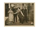 Neighbors, Front, from Left: Virginia Fox, Edward F. Cline, Buster Keaton, 1920 Giclee Print