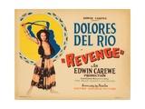 Revenge, Title Card, Dolores Del Rio, 1928 Giclee Print