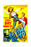 Calamity Jane (AKA La Liga De Oro), Doris Day, Howard Keel, (Argentine Poster Art), 1953 Giclee Print