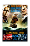 Mutiny on the Bounty, from Left, Marlon Brando, Trevor Howard, 1962 Giclee Print