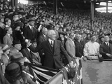 President Warren Harding Throwing Out the First Base Ball on Opening Day, 1922. Washington D.C. Photo