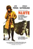Klute, L-R: Jane Fonda, Donald Sutherland on Spanish Poster Art, 1971 Giclee Print