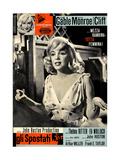 The Misfits, (aka Gli Spostati), Italian Poster, Marilyn Monroe, 1961 Reproduction procédé giclée