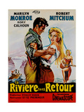 River of No Return, (AKA La Riviere Sans Retour), 1954 Giclee Print
