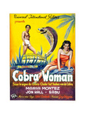 Cobra Woman, Sabu, Maria Montez, (Belgian Poster Art), 1944 Giclee Print