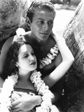 The Hurricane, from Left: Dorothy Lamour, Jon Hall, 1937 Photo